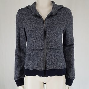 BCBG | Draped Back Heathered Blue Hoodie
